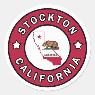 Stockton California Classic Round Sticker