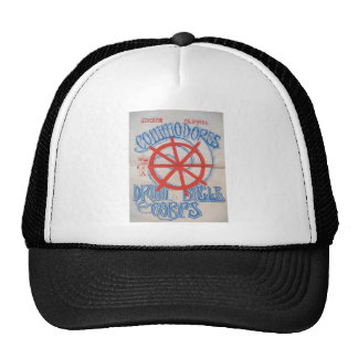 Stockton Commodores drum and bugle corps artwork Trucker Hat