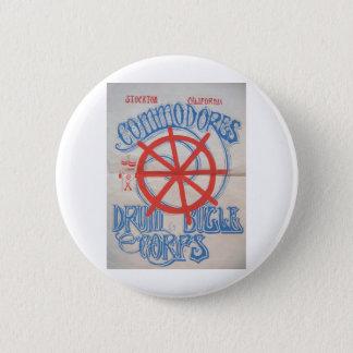 Stockton Commodores  Drum and Bugle Corps Poster Button
