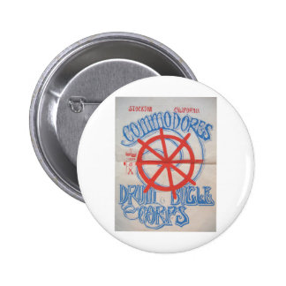 Stockton Commodores  Drum and Bugle Corps Poster Button