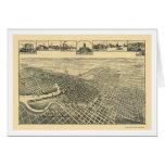 Stockton, mapa panorámico de CA - 1895b Tarjeta De Felicitación