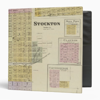 """Stockton, Woodston, puerto de la roca, Clayton, Carpeta 1 1/2"""""""