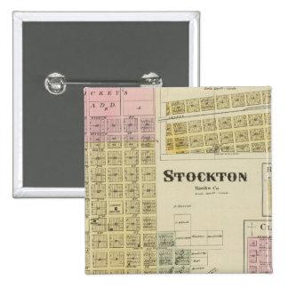 Stockton, Woodston, Rock Port, Clayton, Kansas Pinback Button