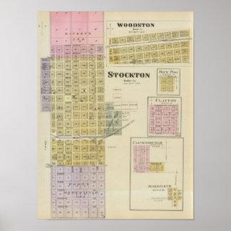 Stockton, Woodston, Rock Port, Clayton, Kansas Poster