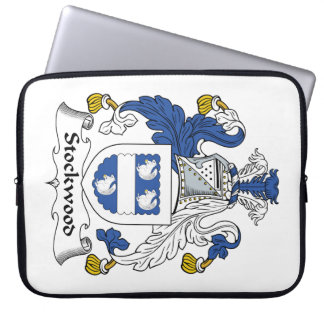 Stockwood Family Crest Laptop Computer Sleeves