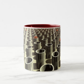 Stockyard of Cylinders Two-Tone Coffee Mug