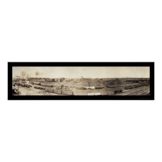 Stockyards South Omaha Photo 1908 Poster