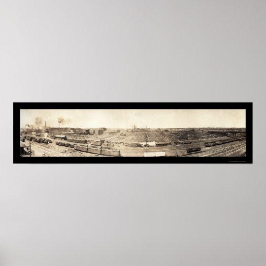 Stockyards South Omaha Photo 1908 Poster