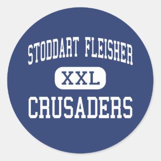 Stoddart Fleisher Crusaders Philadelphia Round Sticker