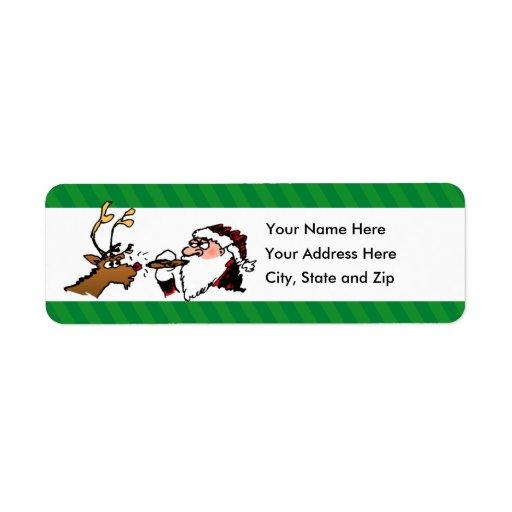 Stogie Lighting Santa Holiday Return Address Label