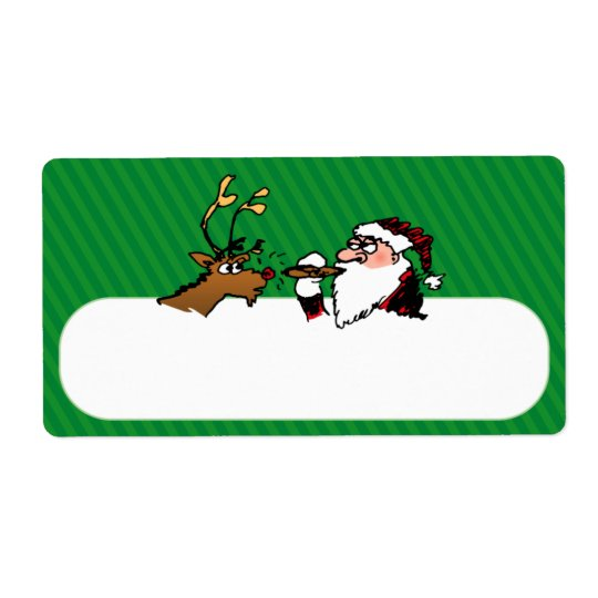 Stogie Lighting Santa Shipping Label