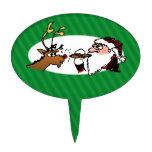 Stogie Santa Funny Cartoon Cake Picks