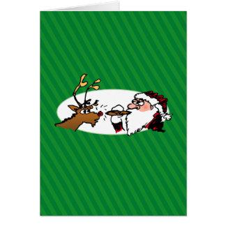 Stogie Santa Funny Cartoon Holiday Card