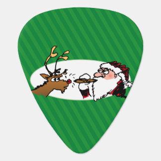 Stogie Smoking Santa Funny Green Stripe Christmas Pick