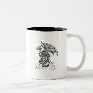 Stoic Dragon Two-Tone Coffee Mug