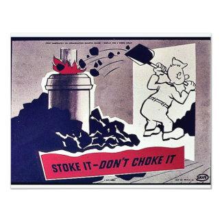 Stoke It-Don't Choke It Personalized Invitations
