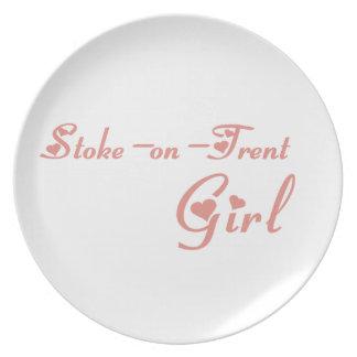 Stoke-on-Trent Girl Dinner Plate