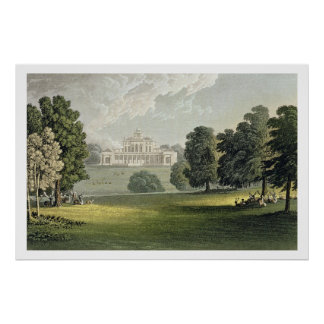 Stoke Park, from Ackermann's 'Repository of Arts', Poster
