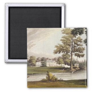 Stoke Place, from Ackermann's 'Repository of Arts' 2 Inch Square Magnet