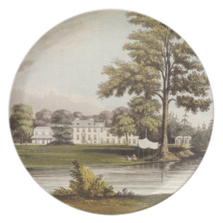 Stoke Place, from Ackermann's 'Repository of Arts' Dinner Plate