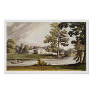Stoke Place, from Ackermann's 'Repository of Arts' Poster
