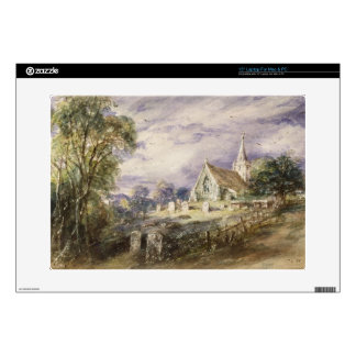 "Stoke Poges Church, 1833 (w/c on paper) 15"" Laptop Skins"