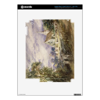 Stoke Poges Church, 1833 (w/c on paper) iPad 3 Decals