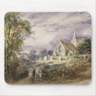 Stoke Poges Church, 1833 (w/c on paper) Mouse Pad