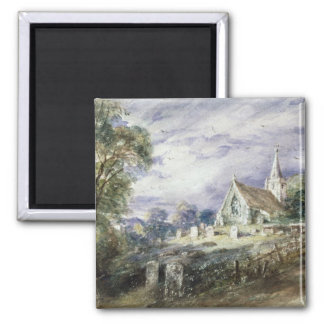 Stoke Poges Church 2 Inch Square Magnet
