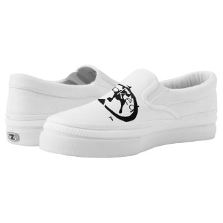 Stoked Slip On Skateboard Shoes Printed Shoes