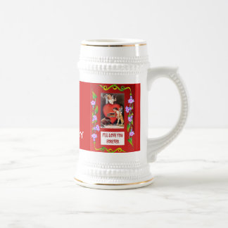 Stoking the fire of love , change the number! beer stein
