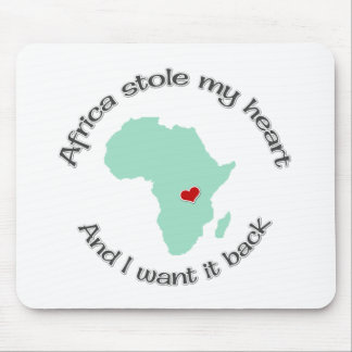 Stole my Heart Africa Mouse Pad