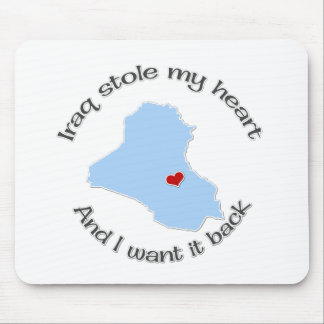 Stole my Heart Iraq Mouse Pad