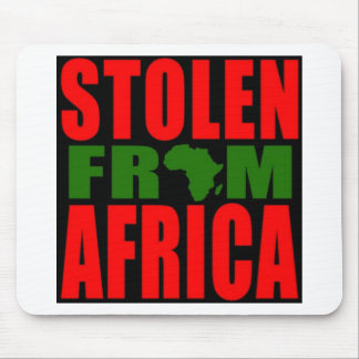 Stolen from Africa - Red Black and Green Flag Mouse Pad