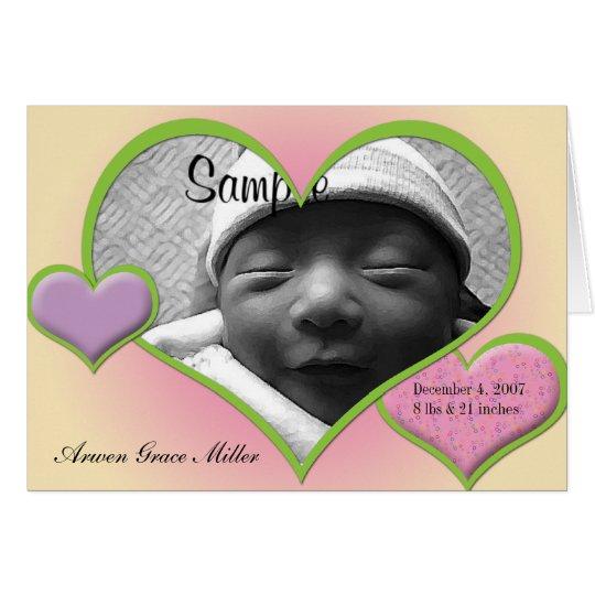 Stolen Heart Photo Birth Announcement