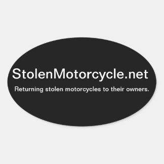 Stolen Motorcycle Oval Sticker