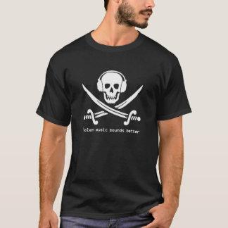 Stolen Music Sounds Better - BLACK version T-Shirt
