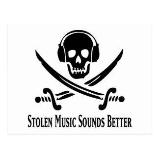 Stolen music sounds better! postcard