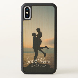 Stolen Photo. Name and Year Typography. iPhone X Case