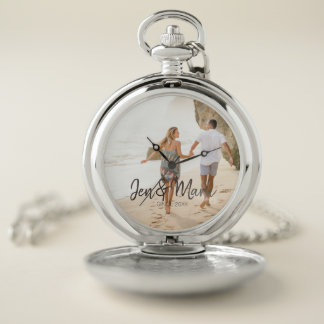 Stolen Photo. Name and Year Typography. Pocket Watch