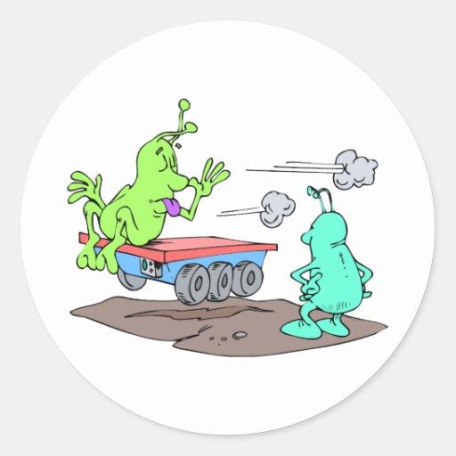 Stolen rover classic round sticker