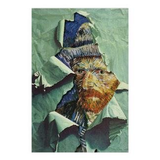 stolen vincent van gogh portrait poster FROM 8.99