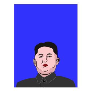 Stolid Kim Jong-un Postcard
