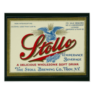 Stollo Vintage Prohibition Beverage Ad Poster