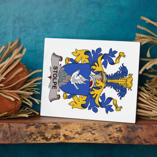 Stolpe Family Crest Display Plaques