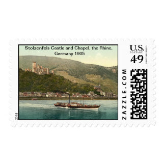 Stolzenfels Castle and Chapel, the Rhine, Germany Postage