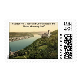 Stolzenfels Castle and Oberlahnstein,Rhine,Germany Stamp