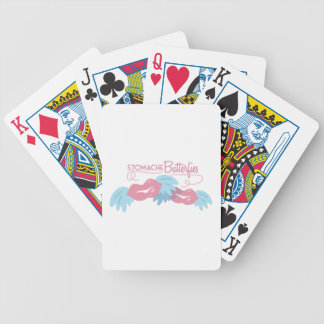 Stomach Butterflies Bicycle Playing Cards