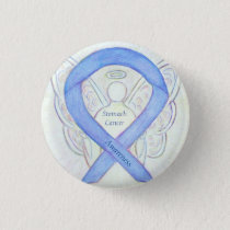 Stomach Cancer Angel Awareness Ribbon Custom Pin
