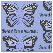 Stomach Cancer Awareness Butterfly of Hope Fabric